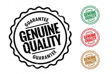 Genuine quality rubber stamps set of four icon