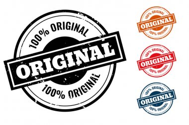 Original quality rubber stamp or label set icon