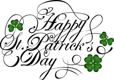 Saint Patricks day greeting.