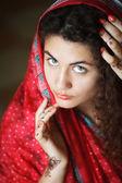indická dívka v sárí