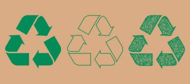 Recycle vector symbol, stamp effect icon