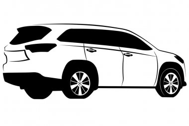 vector image of car Toyota SUV