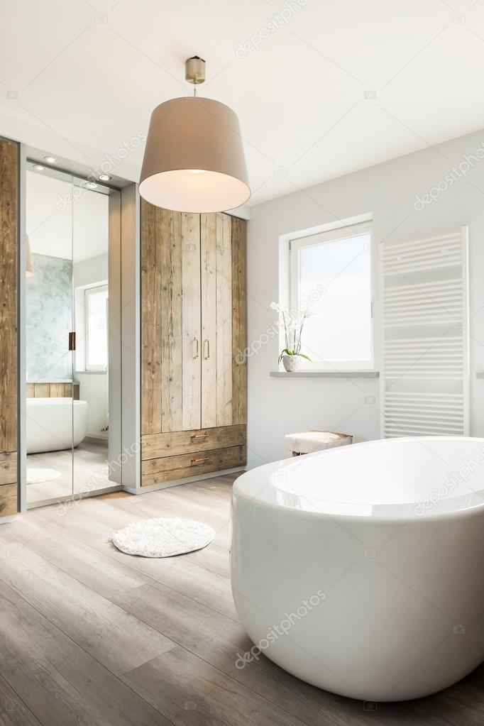 Helle Moderne Badezimmer Interieur Mit Separatem Bad