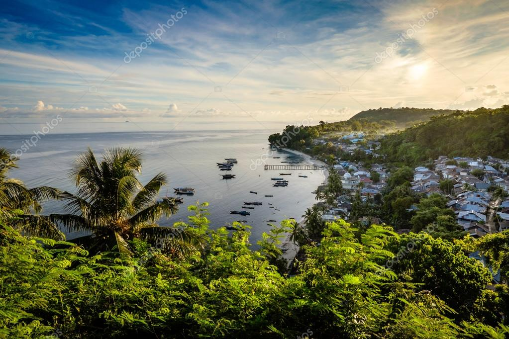 View over Pulau Run, Banda Islands, Indonesia