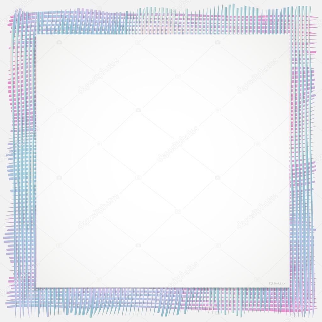 Hintergrund Textile Linienrahmen Ausgeführt In Verschiedenen Farben   Hell  Blau, Dunkel Rosa Und Grau, Deren Kombination Erstellt Einen Besonderen  Stil Für ...