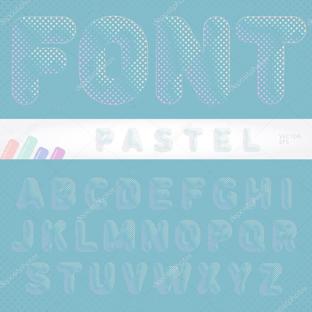 Gentle And Attractive Pastel Font Designed For All Backgrounds All Backgrounds Color