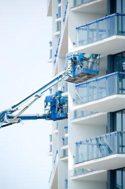 Construction crew working on new condominum
