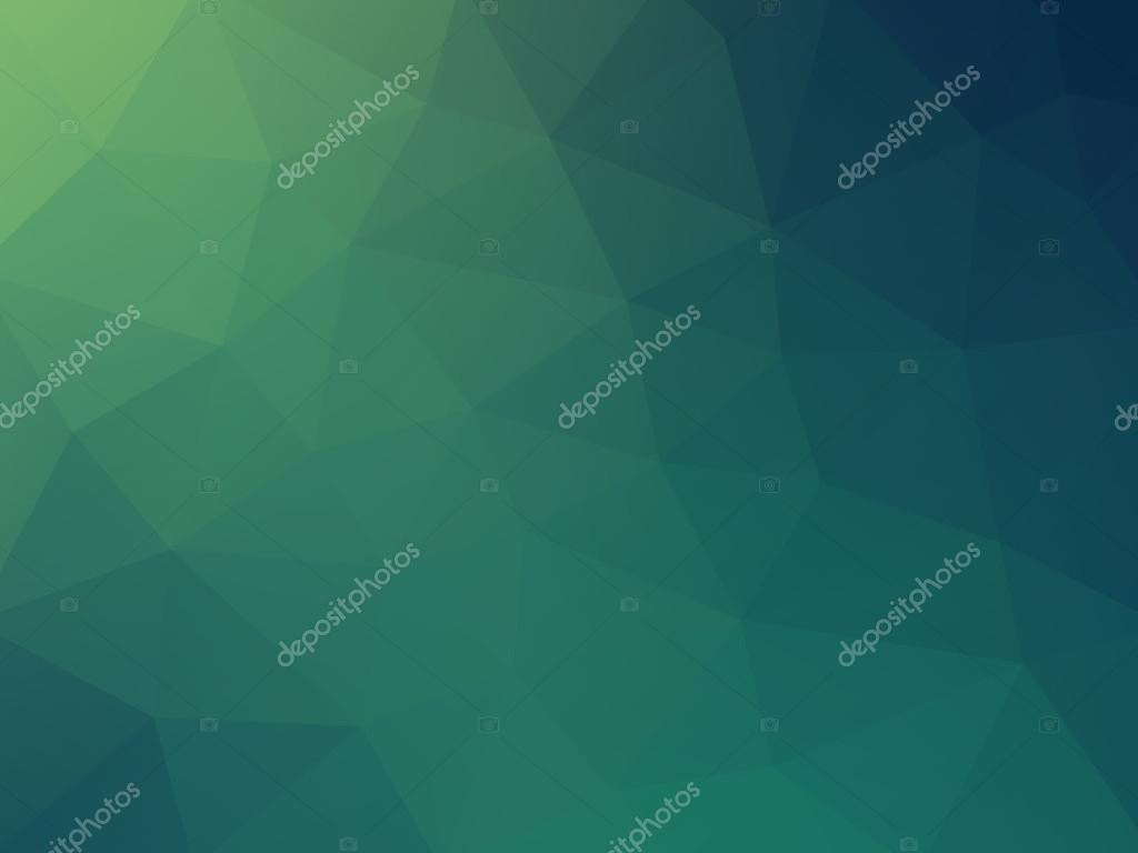 Abstract 2D geometric green blue background