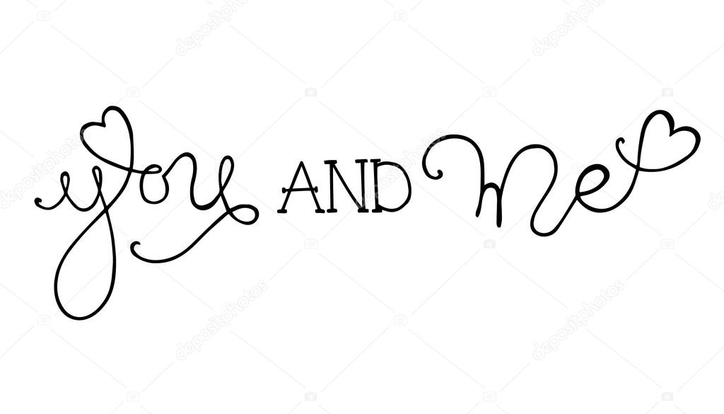 Hand drawn romantic typography...