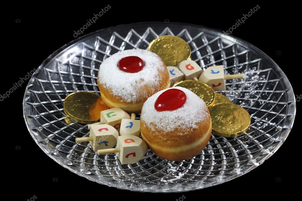 Symbols Of Jewish Hanukkah Holiday Stock Photo Gburshtein 91857778