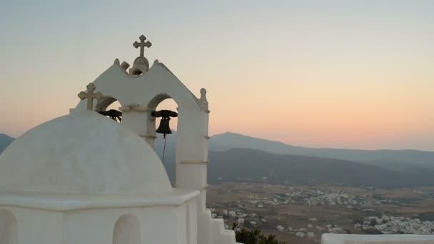 Saint Antonius templom Paros szigeten fekvő nézetben