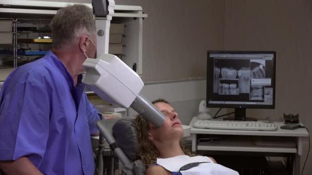 Taking a dental radiography