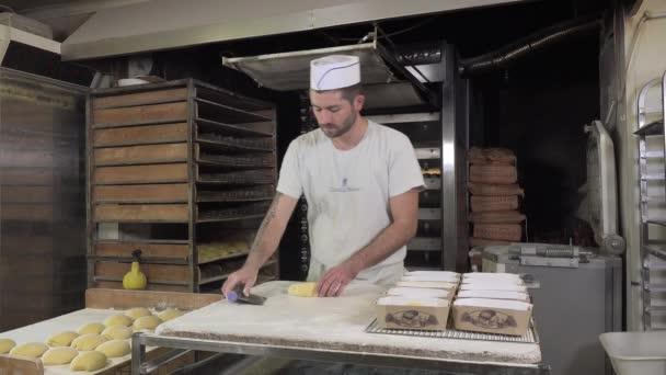 braiding brioche dough portions