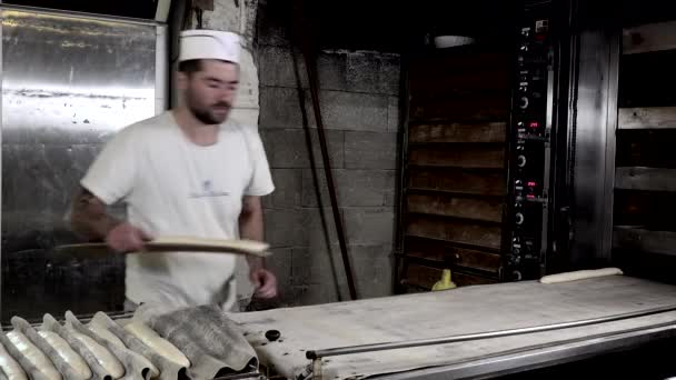 implementazione dei bastoni pane sul forno tappeto