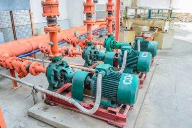 chiller water pump with pressure gauge