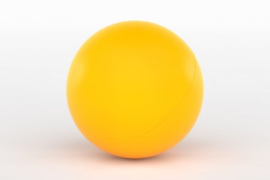 Ping Pong Ball Isolated on White, 3D Rendering