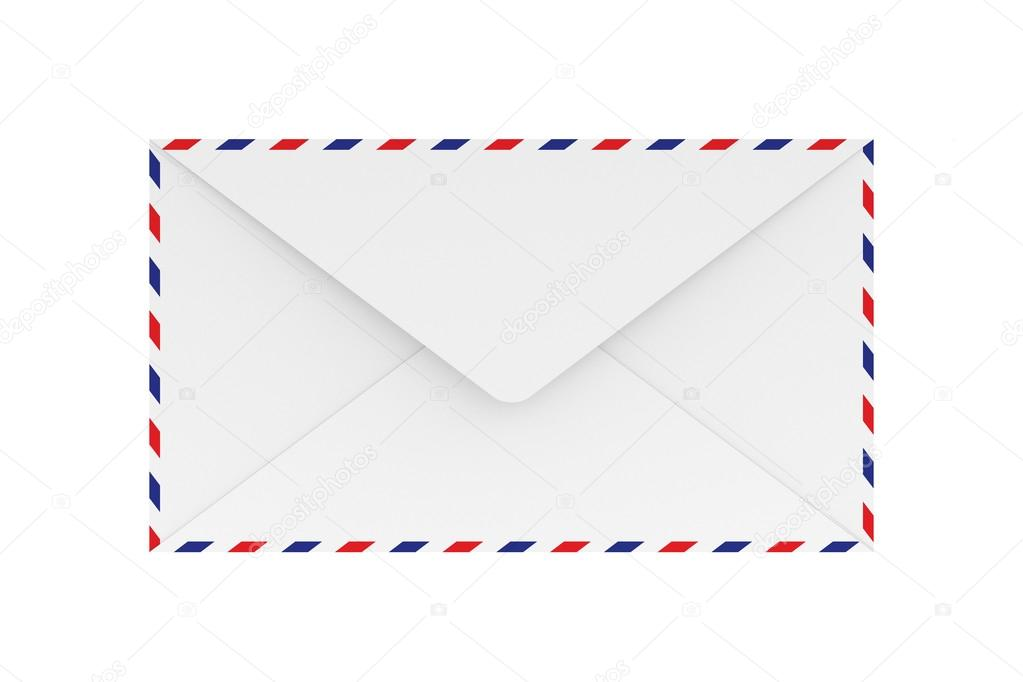 3D Rendering Of Blank Airmail Envelope Isolated On White Background. U2014  Photo By Supparsorn