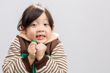 Child Shivering Background / Child Shivering / Child Shivering, Studio Isolated Background