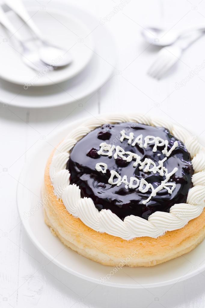 Joyeux Anniversaire Papa Gâteau Fond Happy Birthday Papa Gâteau