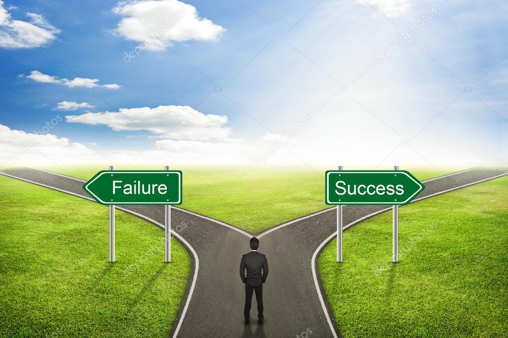 ビジネスマンの概念、失敗や成功の道を正しい選択 — ストック写真 © jayzynism #88759508