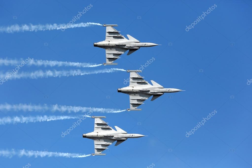 F16 Gripen and August 1st Aerobatic team pilots