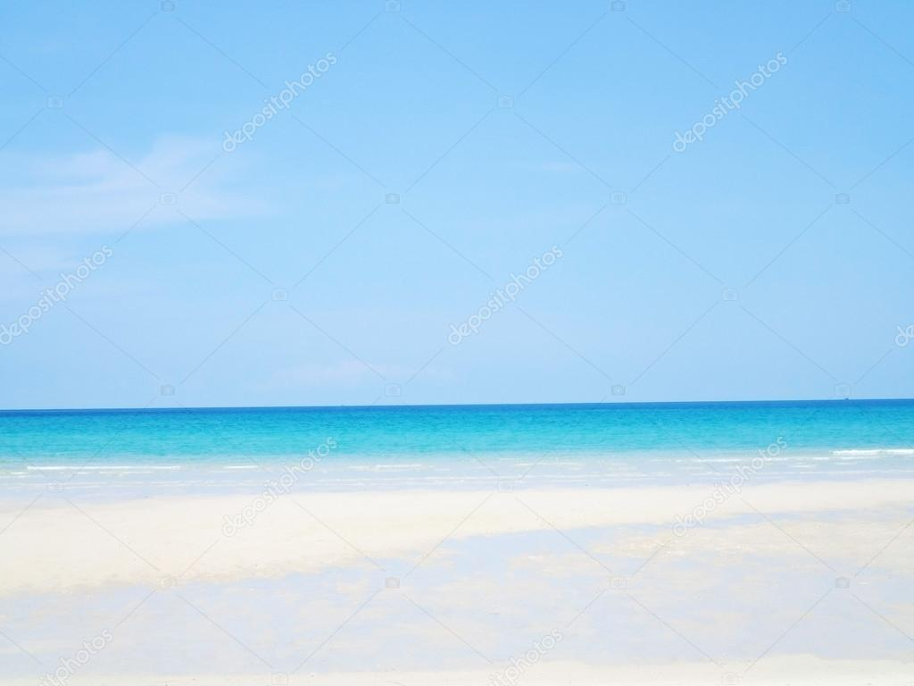 Sfondo Mare Spiaggia Vuota Estate Con Spazio Della Copia Cielo