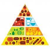 Složení s potraviny siluety