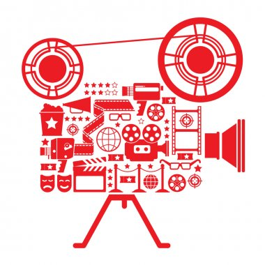 Filming camera Illustration.