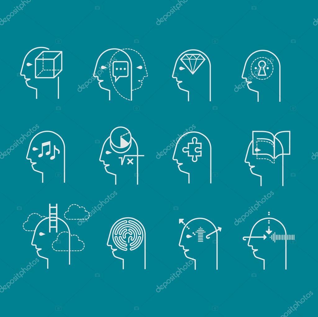 Symbols Of Human Mind States Stock Vector Elapela 85165414
