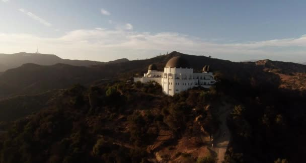 Aerial. Flying over Griffith Observatory. Los Angeles, California