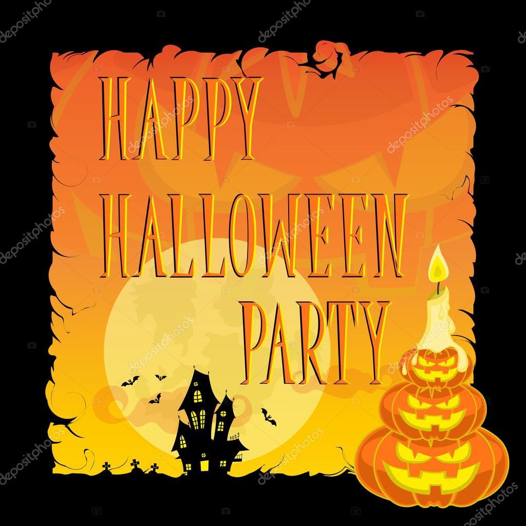 Divertidas calabazas de halloween luna murci lagos vela - Calabazas de halloween de miedo ...