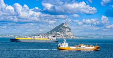 Liquid gas tankers in Gibraltar