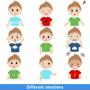 different emotions boy