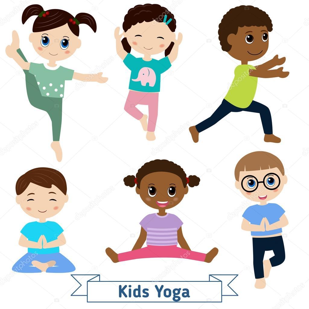 Children Do Yoga Stock Vector 169 Ninamunha 101627298