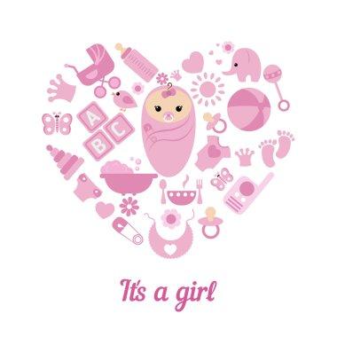 Baby girl shower background