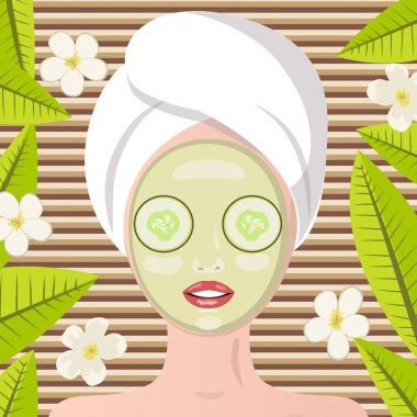Spa therapy. Face massage