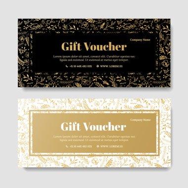 Gift premium voucher, coupon template.
