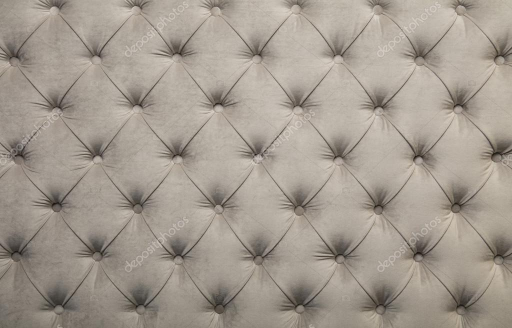 White Capitone Tufted Fabric Upholstery Texture Stock