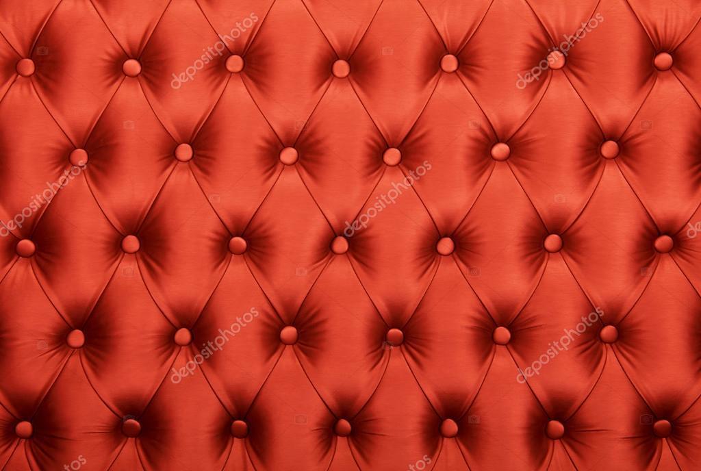 Textura de tapicería de tela capitone rojo copetudo — Fotos de Stock ...