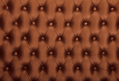 Brown capitone tufted fabric upholstery texture