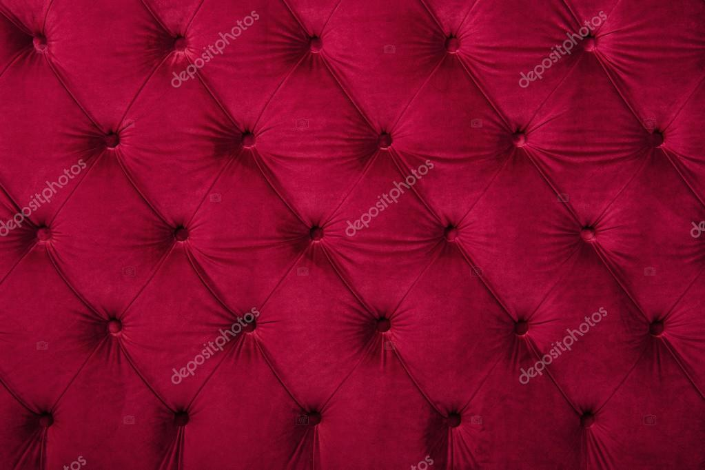 Red capitone tufted fabric upholstery texture — Stock ...