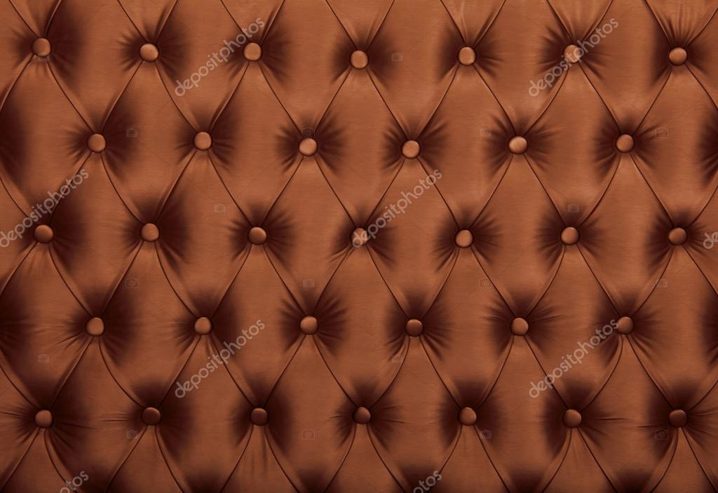 Capitone marrón copetudo tela tapicería textura — Foto de stock ...