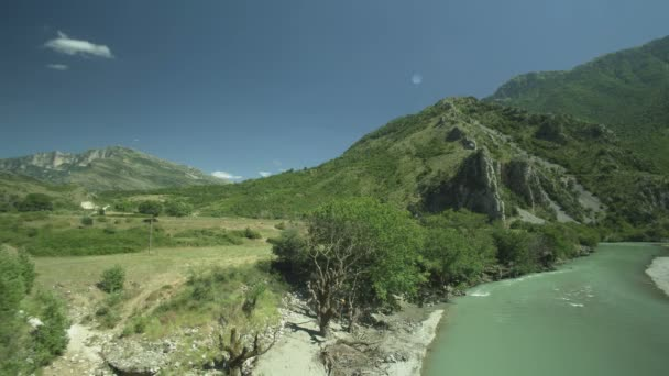 Panoramic view of a valley with river