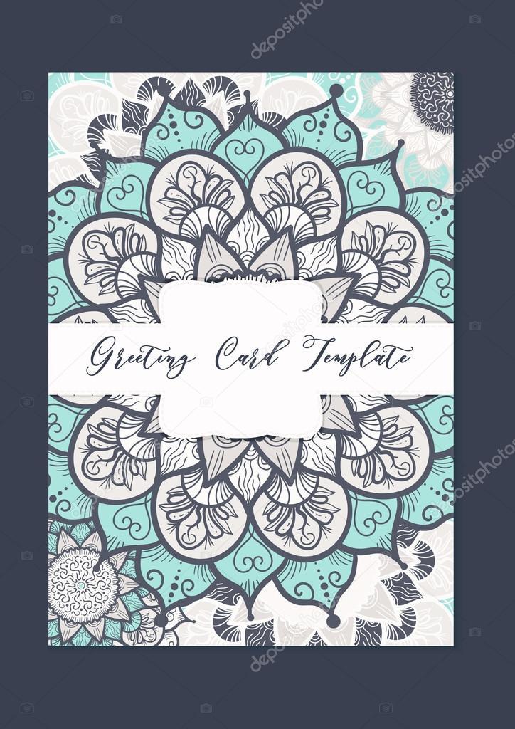Mandala Vorlage Vintage Karte Stockvektor C Barsrsind 110635374