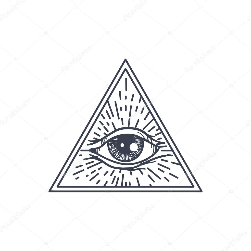 Ojo todo visión en triángulo — Vector de stock © barsrsind #116862306