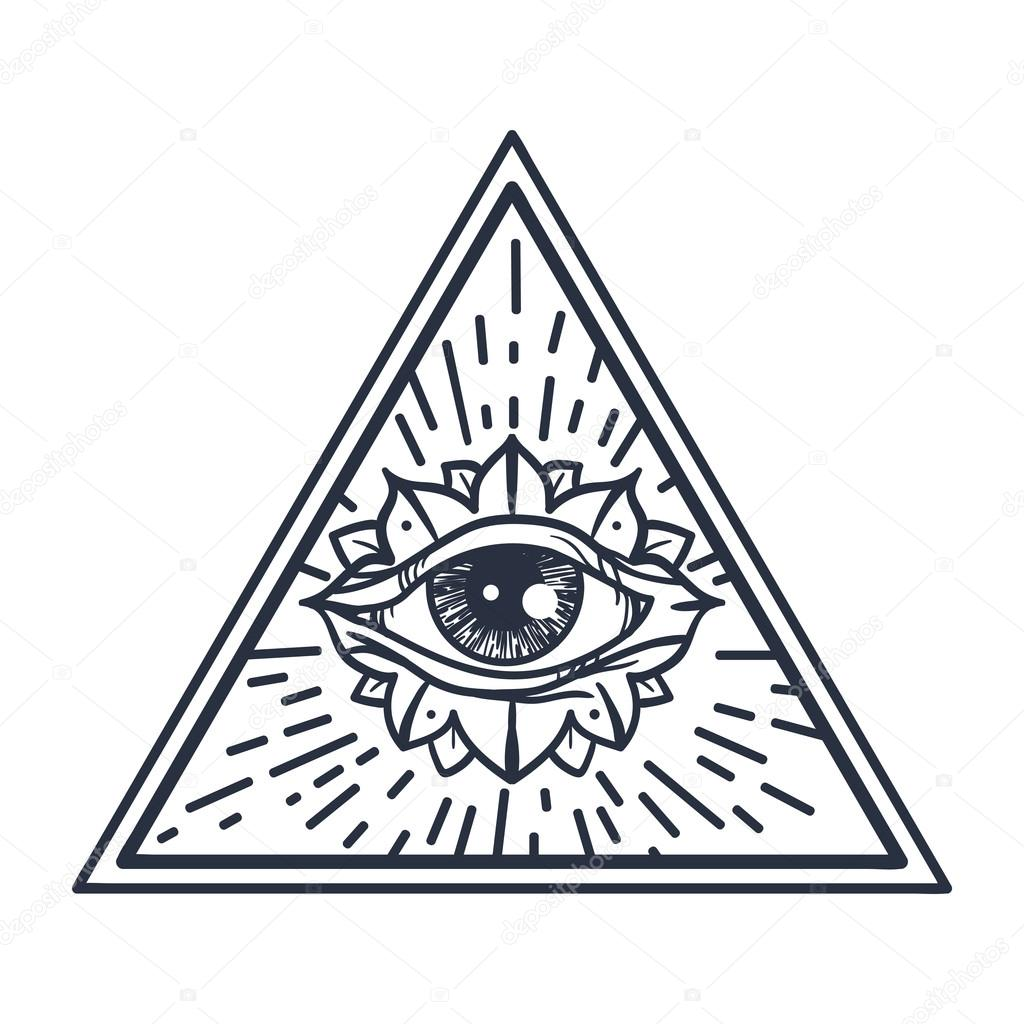Ojo todo visión en triángulo — Archivo Imágenes Vectoriales ...