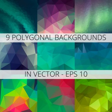 abstract colorful polygonal backgrounds