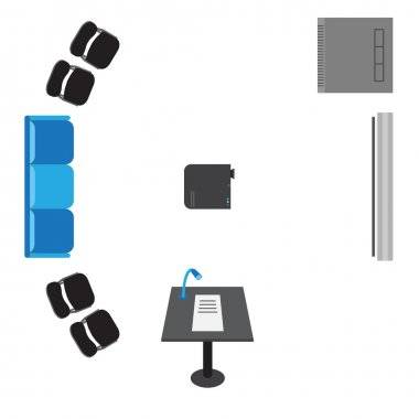 Vector set of icons for presentation