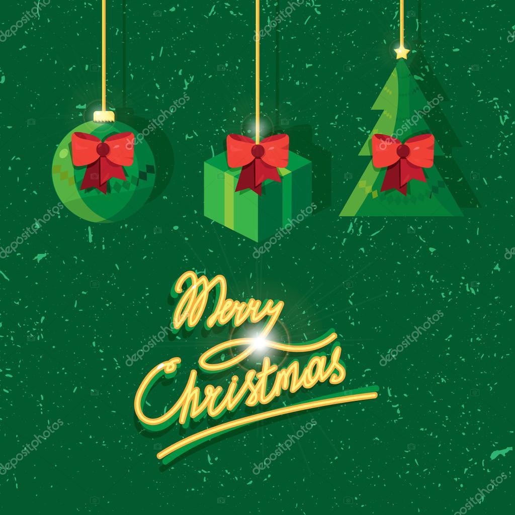 Feliz Navidad Rotulos.Mano Escrita Rotulos De Texto Vintage Feliz Navidad Vector