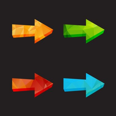 Isolated triangle polygonal arrows set